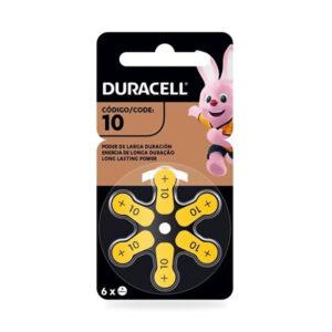 Pila Duracell Audiológica 10×6