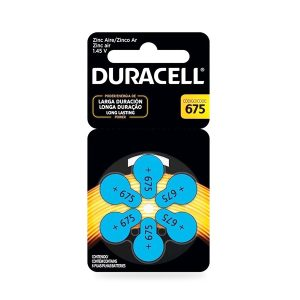 Pila Duracell Audiologica 675×6