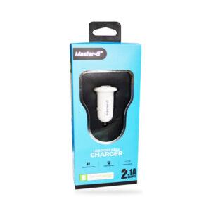 Cargador Para Auto Master-G 12V Dual Caja Azul