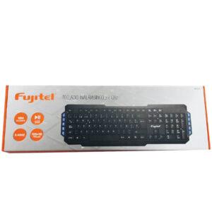 Teclado Fujitel Inalámbrico Wr106 Teclas Azules