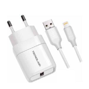 Cargador Tecnolab Lightning 2.4 Amp TL042W