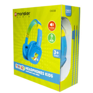 Audífono Monster Kids CK038 Azul Cocodrilo