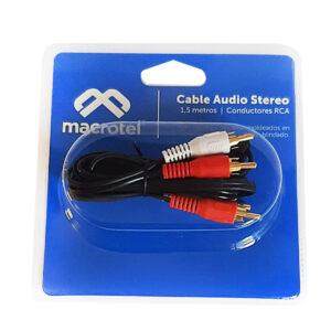 Cable Macrotel 2×2 Rca 1.5 Mts Ma 1420