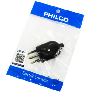 Enchufe macho PHILCO 3 patas negro bolsa 78525