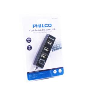 Hub Philco 2.0 4 puertos negro 29USBHB24N